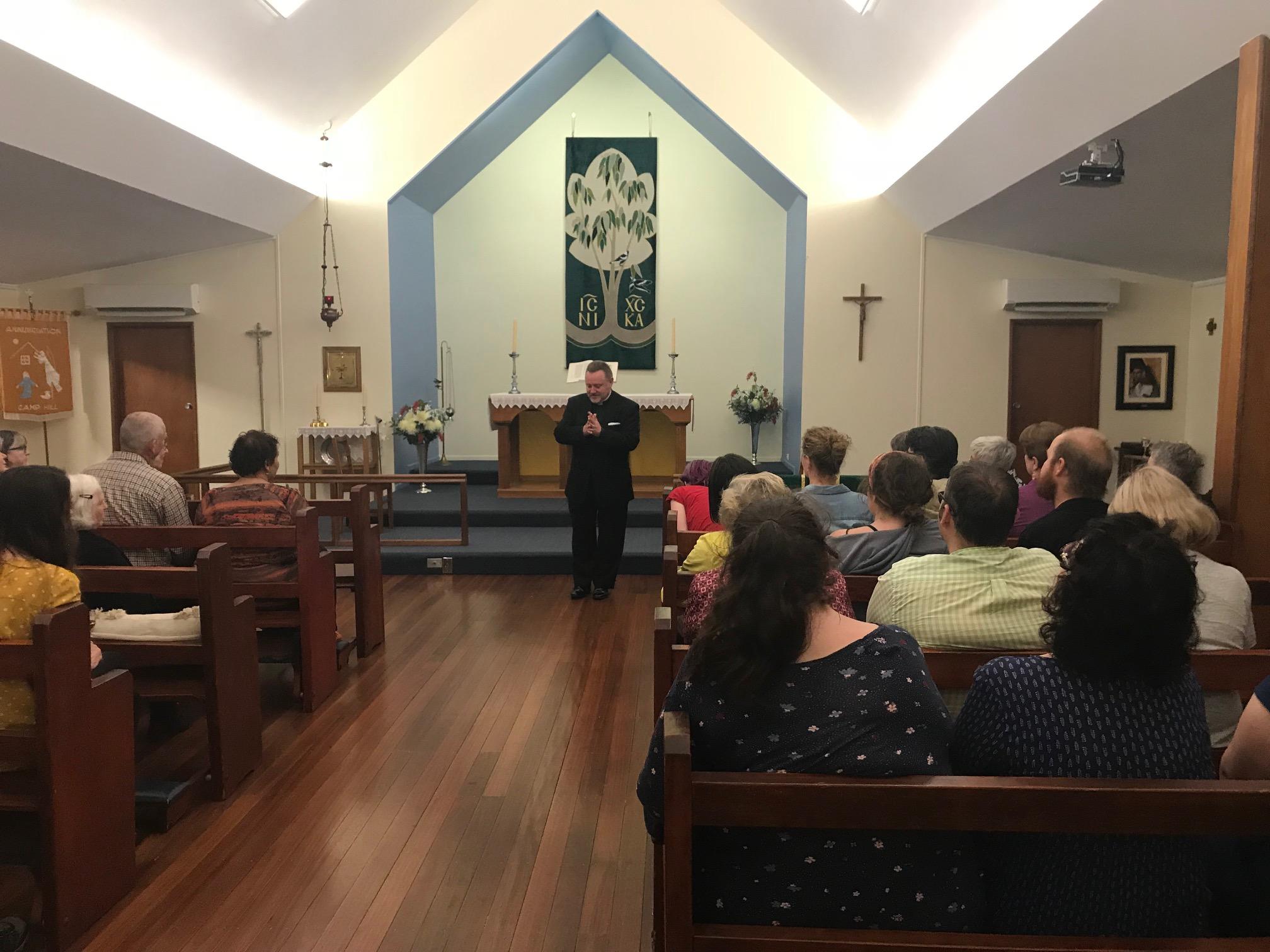 Fr Rod Bower from Gosford speaks, 2019